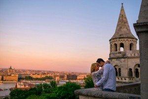 Romantic sunset photo in Budapest, by TripShooter Budapest photographer Melinda Guerini Temesi