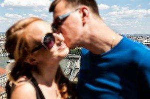 Couple on romantic East European trip, by TripShooter Budapest photographer Melinda Guerini Temesi