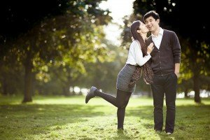 Cute fun couple portrait in Poland, by TripShooter photographers in Warsaw, Diana and Rafal Krasa