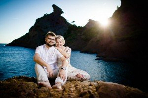 Travelling couple professional portrait by TripShooter photographers in Warsaw, Diana and Rafal Krasa