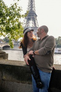 Couple laugh together on Paris vacation, photo by TripShooter's Paris photographer Pierre Turyan