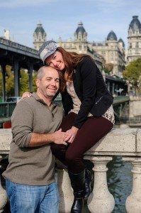 Loving vacation couple travel in Paris, photo by TripShooter's Paris photographer Pierre Turyan