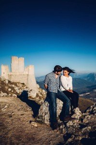 Sweet honeymoon photo of couple at Italian castle, by TripShooter's photographer in Italy Giancarlo Malandra