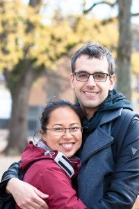Travelling couple embrace on big European trip. Photo by TripShooter Zurich photographer Cloudia Chen.