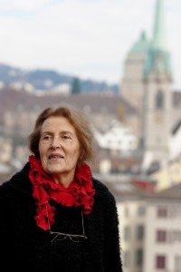 Elderly woman retiree on vacation in Switzerland, by TripShooter Zurich photographer Cloudia Chen