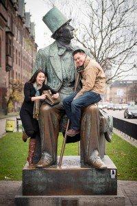 Cute fun photo of couple on vacation in Denmark, by TripShooter's Copenhagen photographer Matthew Harrison