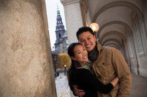 Loving couple portrait in Copenhagen by TripShooter's photographer in Copenhagen Matthew Harrison