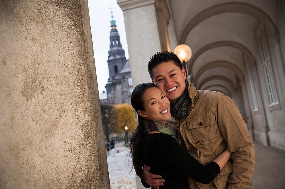 Loving couple portrait in Copenhagen by TripShooter's photographer in Copenhagen Matthew Harrison