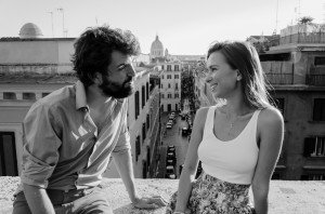 Couple smile and talk in Rome vacation, photo by TripShooter's Rome photographer Bob Fiore