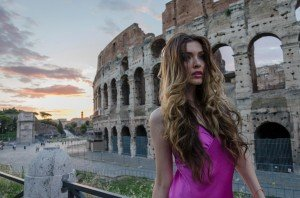 Fashion shoot at Roman Colosseum by TripShooter's Rome Photographer Bob Fiore