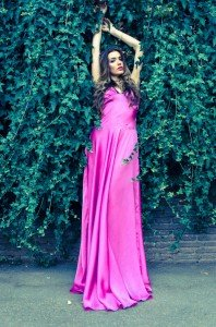 Woman in pink dress does Rome fashion shoot, by TripShooter's Rome Photographer Bob Fiore