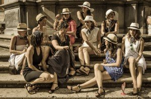 Hens party group of women in Rome on holiday weekend, photo by TripShooter's photographer in Rome Bob Fiore