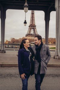 Loving couple smile together in Paris by TripShooter photographer in Paris, Pierre Turyan