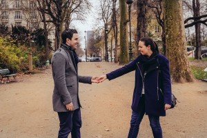 Couple having fun on Paris vacation, photo by TripShooter's Paris photographer Pierre Turyan