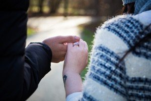 Engagement ring photo at destination proposal in Amsterdam, photo by TripShooter Amsterdam photographer Elena Pasca