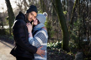 Newly engaged couple in proposal photoshoot in Amsterdam, photo by TripShooter Amsterdam photographer Elena Pasca