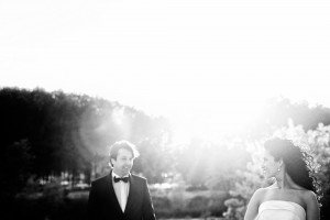 Cute wedding photo of bride and groom looking at each other, by TripShooter's photographer in Genoa, Beatrice Moricci