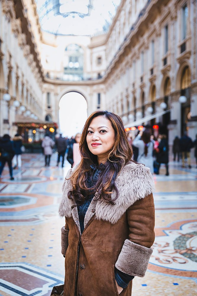 Woman on Glamour photoshoot in Milan by TripShooter photographer Alessandro Della Savia