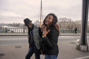 Just engaged couple on marriage proposal photoshoot in Paris, photo by Tripshooter's Paris photographer Pierre Turyan