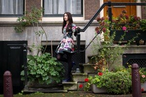Fashion shoot on steps in Amsterdam by TripShooter's Amsterdam photographer Elena Pasca