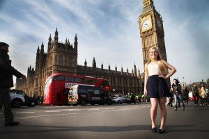 Holiday photos in London with Big Ben and Red Bus, by TripShooter's London photographer Poppy Carter