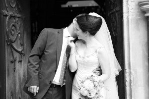 Married couple first kiss, by TripShooter's London photographer Poppy Carter
