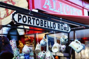 Portobello Road sign and shop, by TripShooter's London photographer Poppy Carter