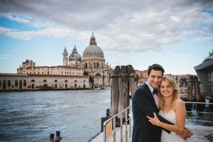 Happy couple on vacation in Venice with a photographer, by TripShooter's Venice photographer Jody Riva