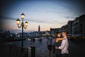 Couple dancing in Venice at dusk, by TripShooter's Venice photographer Jody Riva