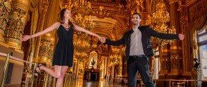 TripShooter photo of a fun couple at the luxurious opera Garnier