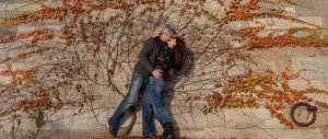 TripShooter photo of a romantic couple kissing in Paris