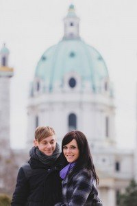Happy couple personal postcard in Austria - photo by TripShooter's Vienna photographer Evamaria Kulovits