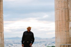 Solo male traveller photoshoot in Greece by TripShooter's Athens photographer Andreas Stavropoulos