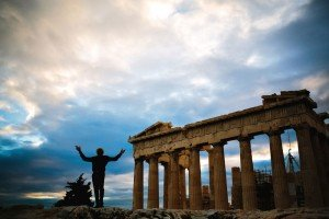 Silhouette of man ruins Greece by TripShooter's Athens photographer Andreas Stavropoulos