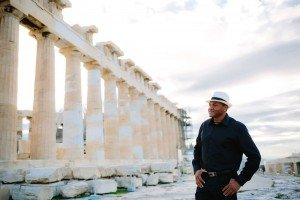 Man traveller in Greek ruins by TripShooter's Athens photographer Andreas Stavropoulos