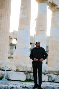 Man photoshoot on travels at Greek ruins by TripShooter's Athens photographer Andreas Stavropoulos