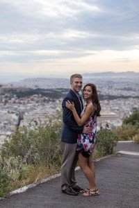 Engaged couple travelling in Athens by TripShooter's Athens photographer Dimitris Giouvris