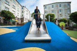 Big kids on a little kids playground, by TripShooter's photographer in Santiago de Compostela, Bertolino Matteo
