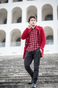 Male fashion photoshoot in Rome on steps by TripShooter Rome photographer Silvia Cleri
