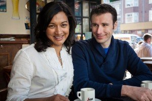 Portrait of couple drinking coffee, by TripShooter's photographer in Amsterdam, Adrienne Norman