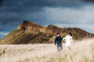 Couple photoshoot in Scotland landscape, by TripShooter's Edinburgh photographer Sean Bell