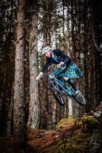 Action photo of man riding BMX bicycle in kilt, by TripShooter's Edinburgh photographer Sean Bell