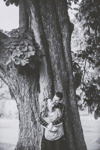 Couple embrace under tree, by TripShooter's Edinburgh photographer Sean Bell