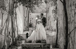 Romantic black and white marriage portrait, by TripShooter's Ibiza photographer Tamas Kooning