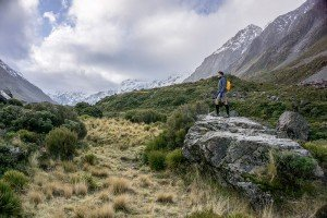 Photo of mountain hiker by London photographer Leyla Kazim