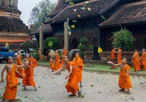 Photo of buddhists dancing by London photographer Leyla Kazim