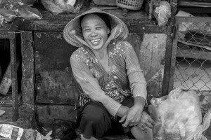 Photo of laughing local by London photographer Leyla Kazim