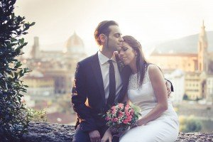 Newlywed married couple at destination wedding in Italy, by TripShooter's Florence photographer Dorin Vasilescu