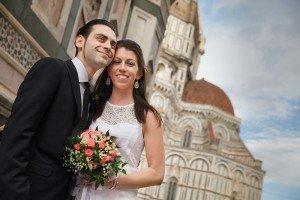 Wedding portrait at Italy destination wedding, by TripShooter's Florence photographer Dorin Vasilescu