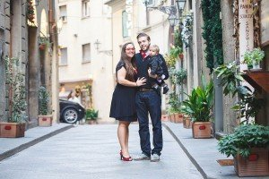 Family portrait in Florence, by TripShooter's Florence photographer Dorin Vasilescu